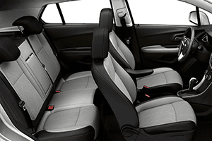 2017 Chevrolet Trax White and Black Interior