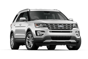 2016 Ford Explorer with White Exterior and Gray Interior