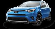 Blue 2017 Toyota Rav4