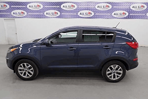 Exterior of Blue 2016 Kia Sportage