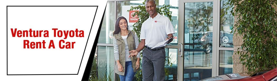 Ventura Toyota Rent a Car, man and woman smiling walking out to car