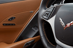 brown lether gray interior 2016 chevy corvette