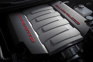 engine red wording 2016 chevy corvette