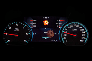speedometer of 2016 chevy suburban