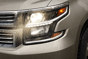 front left headlight gold 2016 chevy suburban