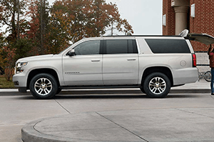 silver left side 2016 chevy suburban
