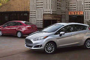 silver and red 2017 ford fiestas