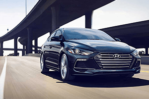 gray blue 2017 hyundai elantra under bridge