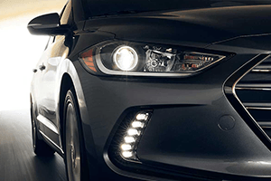 front right headlight dark gray 2017 hyundai elantra