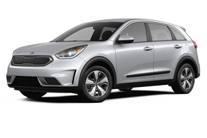 2017 Kia Niro Silver with Black Trim