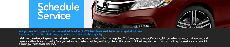Honda of Ocala schedule service banner