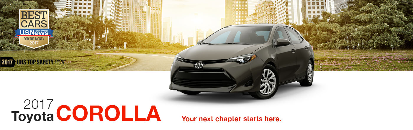 A 2017 Corolla in the City at RB Toyota