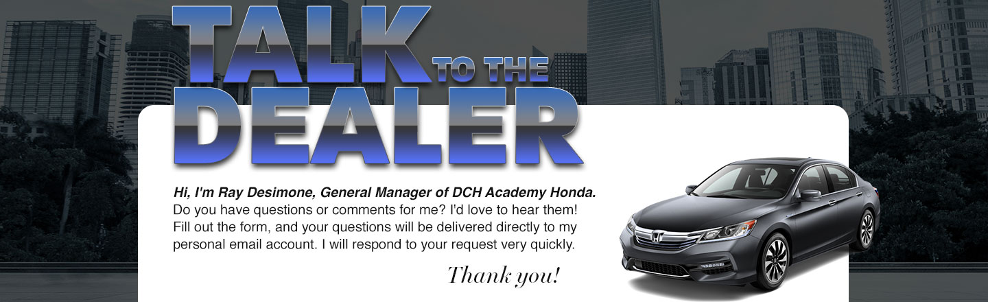 DCH Academy Honda Talk to the Dealer