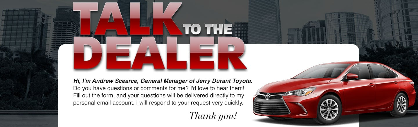 talk to dealer - jerry durant toyota Granbury, TX