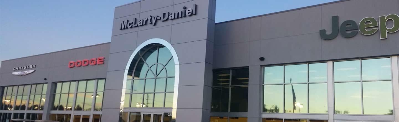 McLarty Daniel CDJR dealership entrance in Bentonville, AR