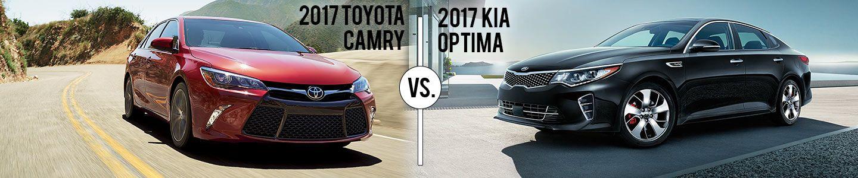 Kia of Augusta, Red Toyota Camry vs. Black Kia Optima