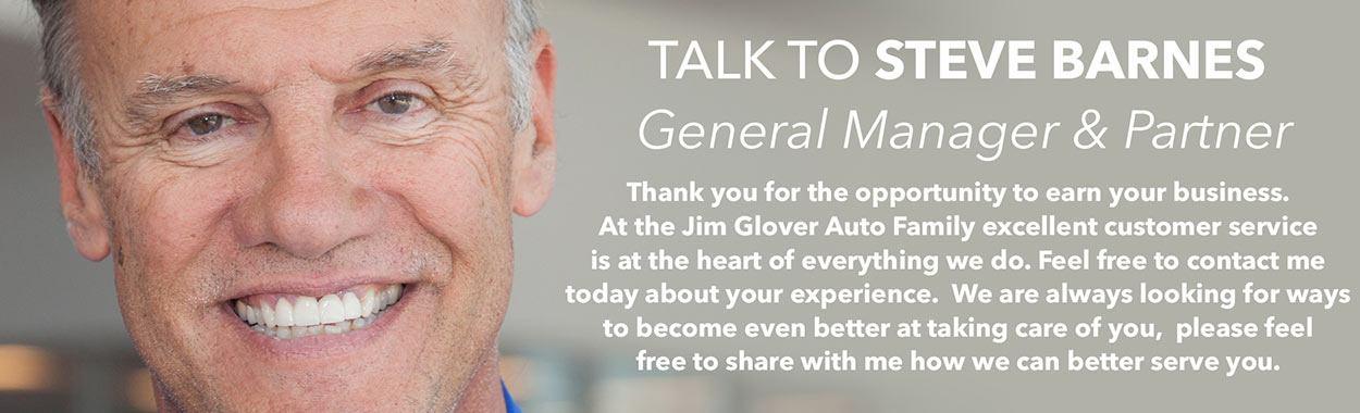 Talk to Steve Barnes General Manager & Partner