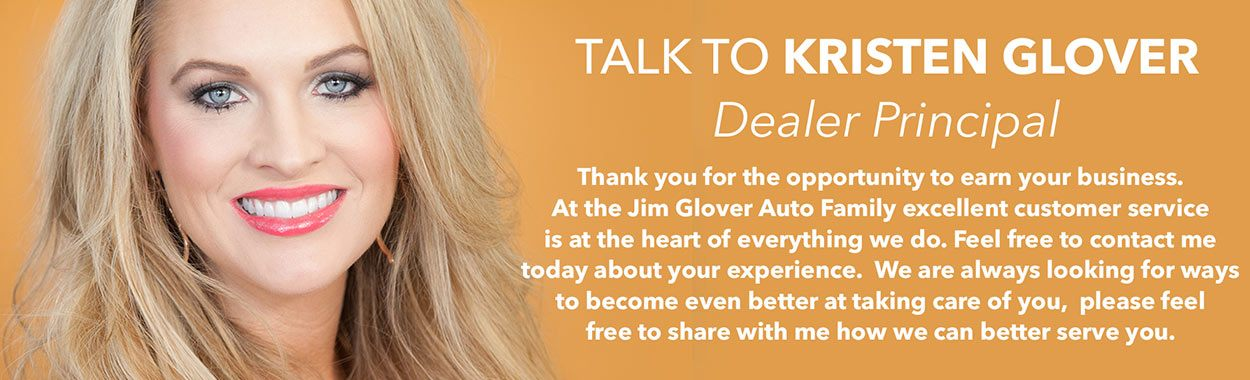 Talk to Kristen Glover Dealer Principal