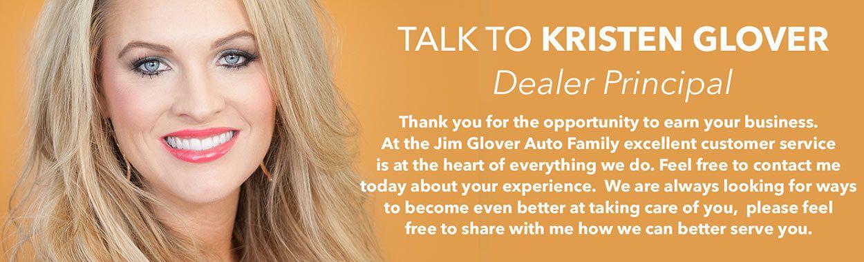 Talk to Kristen Glover Dealer Principal