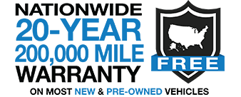 Nationwide 20-Year 200,000 Mile Warranty Free Tallahassee Lincoln Ford Logo