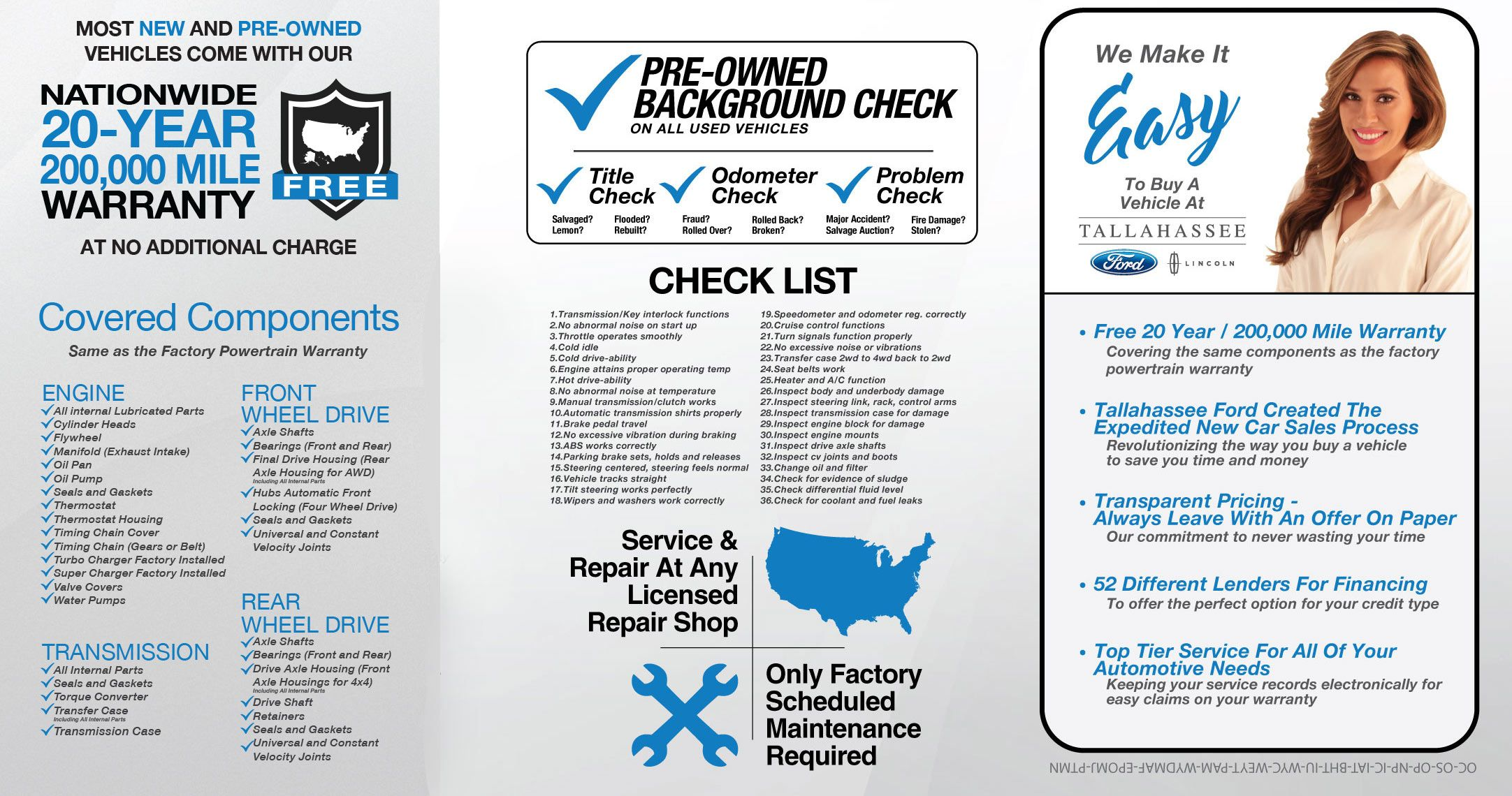 Nationwide 20-Year 200,000 Mile Warranty Free Tallahassee Lincoln Ford Components