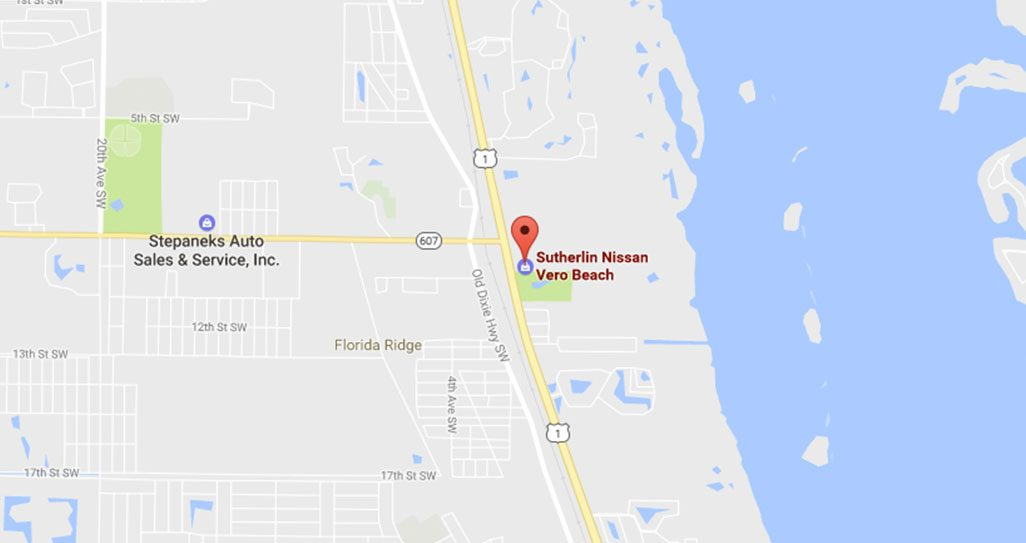 Nissan Dealer In Vero Beach FL Serving Fort Pierce And Winter - Vero beach florida map