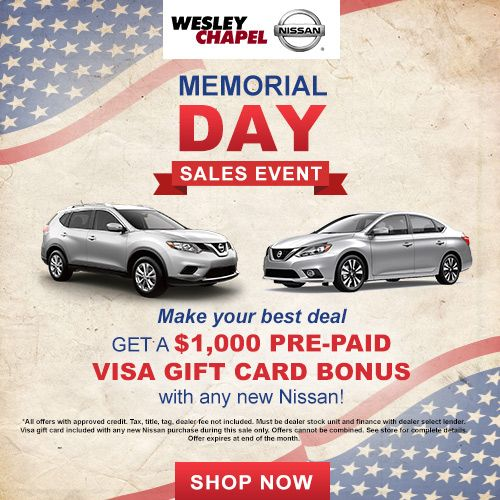 Wesley Chapel Memorial Day Sale