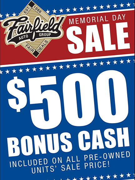 Fairfield Memorial Day Sales Event
