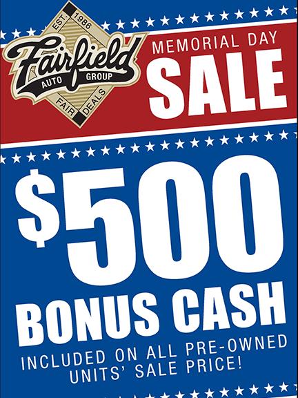 Fairfield Memorial Special Sales Event