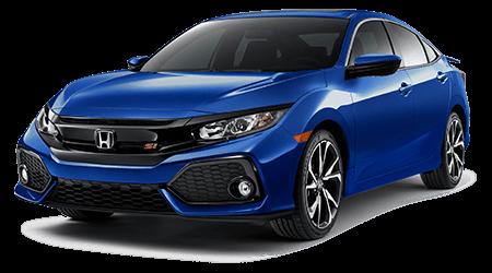 Blue Honda Civic Si with Gray Interior