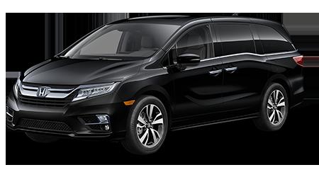 2018 Honda Odyssey Black with gray interior