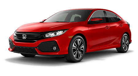 2017 Honda Civic Hatchback Red with gray Interior