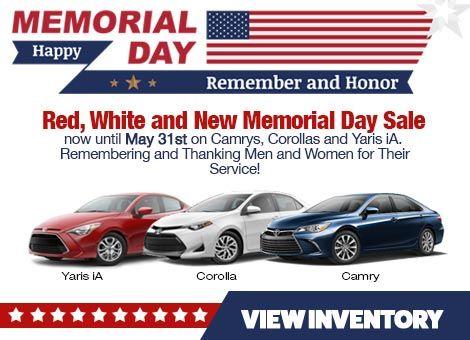 Johnson Toyota, Memorial Day Sales Event