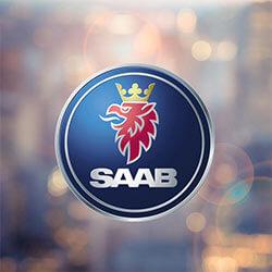 Burns Honda NJ, SAAB logo