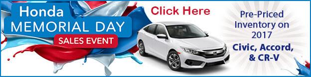 Burns Honda Memorial Day Sales Event