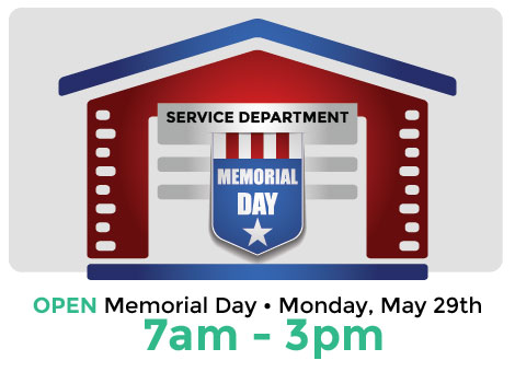 Service Department Closed for Memorial Day at Toyota of Poway