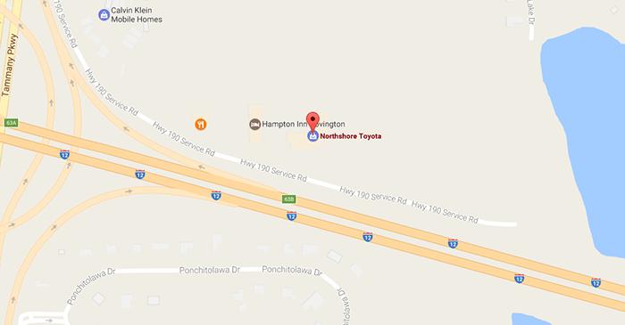 New Toyota Dealership In Covington La Northshore Toyota - Toyota-map-updates-us