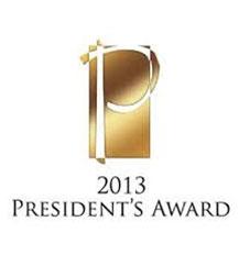 2013 presiden's award