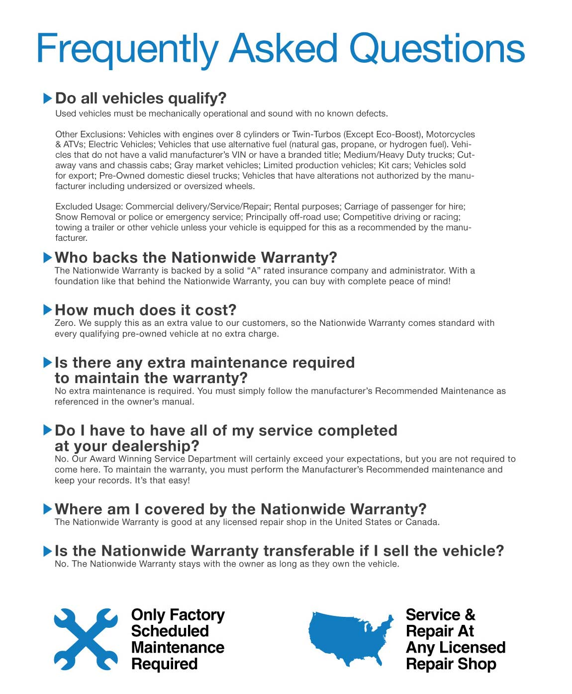 Nationwide 20-Year 200,000 Mile Warranty Free Tallahassee Lincoln Ford Frequently Asked Questions