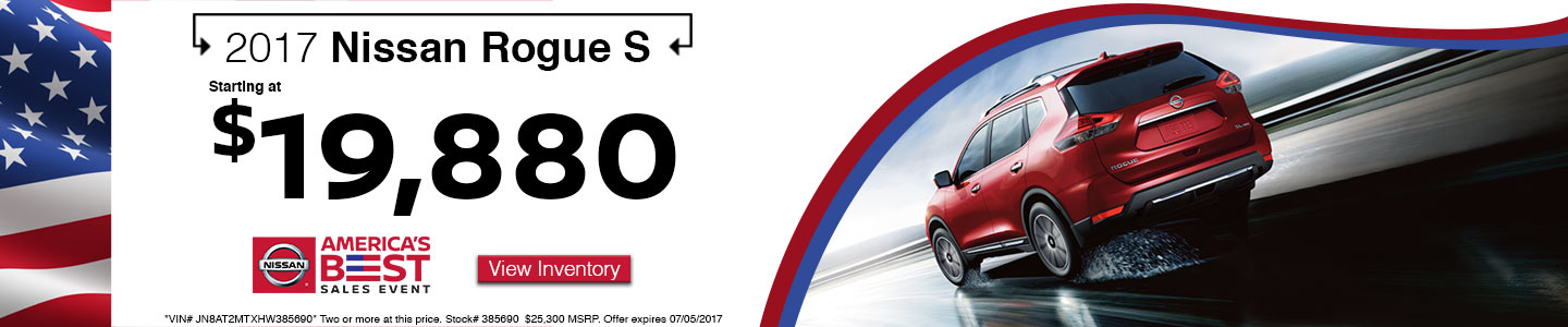 2017 Nissan Rogue Red America's Best Sales Event at Hudson Nissan in North Charleston, SC