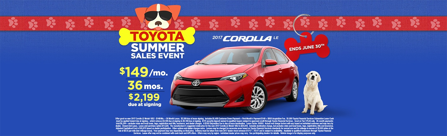 """CIN – Optional Campaign – """"Summer Sales Event Corolla Lease"""""""
