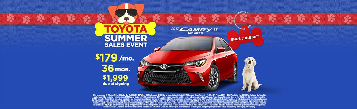 """CIN – Optional Campaign – """"Summer Sales Event Camry Lease"""""""