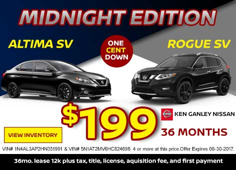 Midnight Edition Altima and Rogue Special