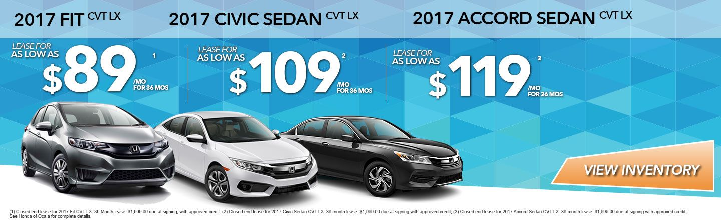 Honda of Ocala, Summer Lease Specials