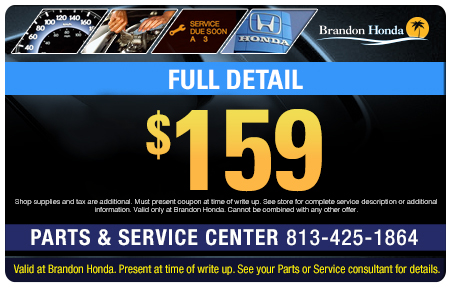 Honda service coupons parts near tampa brandon for Brandon honda service hours