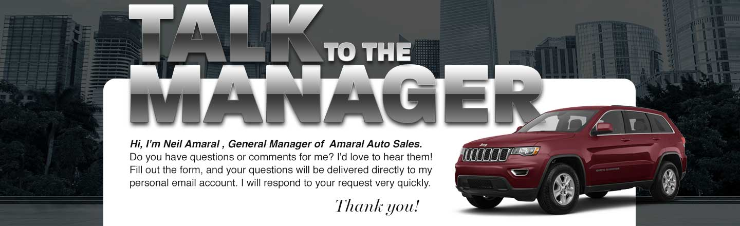 Talk to the Manager, Neil Amaral