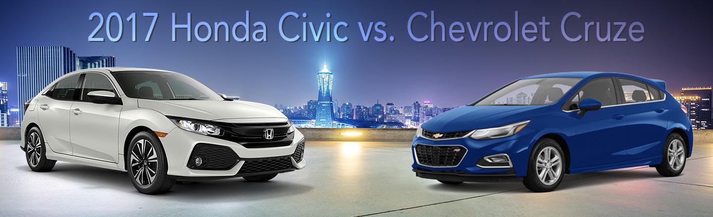 2017 honda civic vs chevrolet cruze dch paramus honda for Honda dealership paramus nj