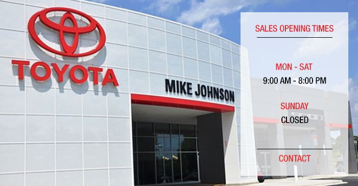 dealership near statesville nc mike johnson 39 s hickory toyota. Black Bedroom Furniture Sets. Home Design Ideas