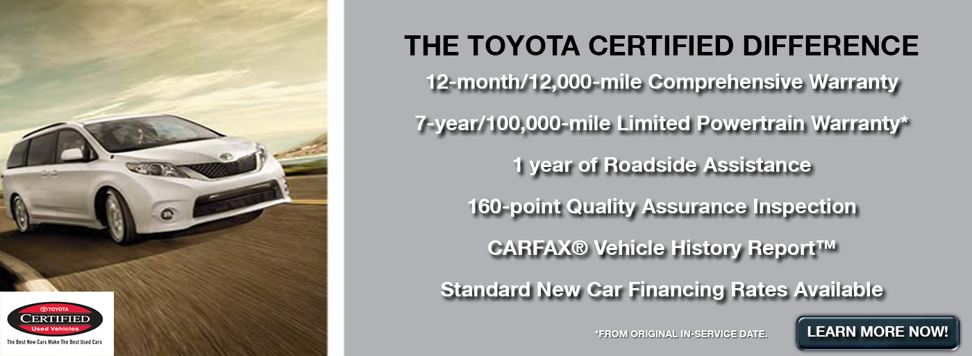 Certified Toyota Vehicles In Harrisonburg, VA