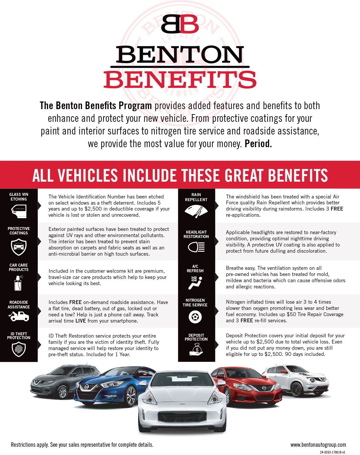 Provides added features and benefits to both enhance and protect your new vehicle.
